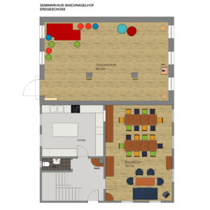 Baschnagelhof Grundriss Seminarhaus Erdgeschoss